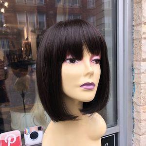 Full lace wig Longer bob brown 2019